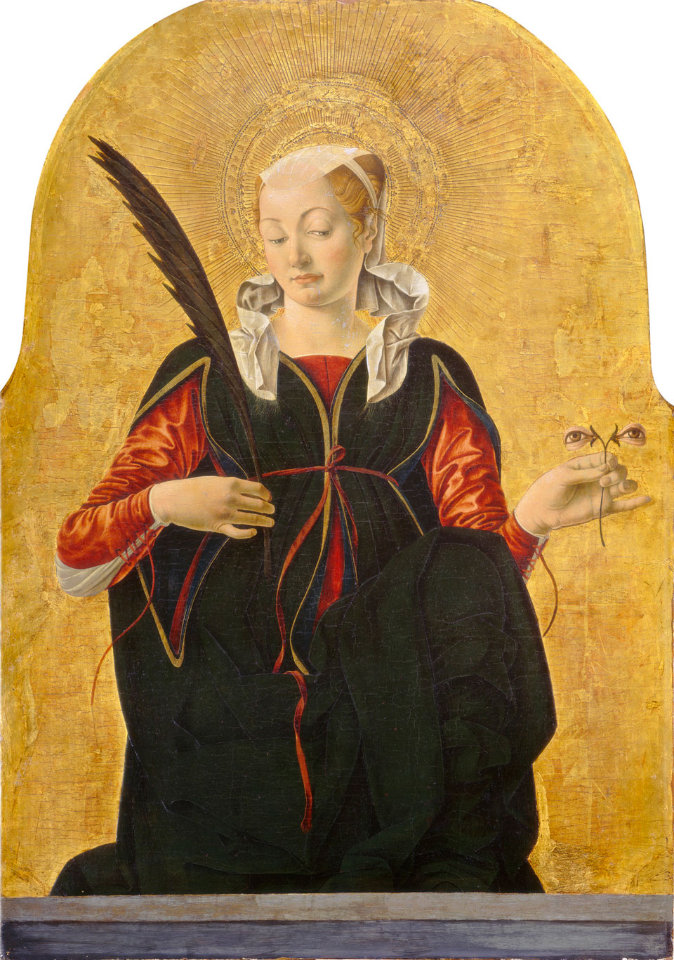 Francesco del Cossa, Santa Lucia, 1472-1473, National Gallery of Art, Washington